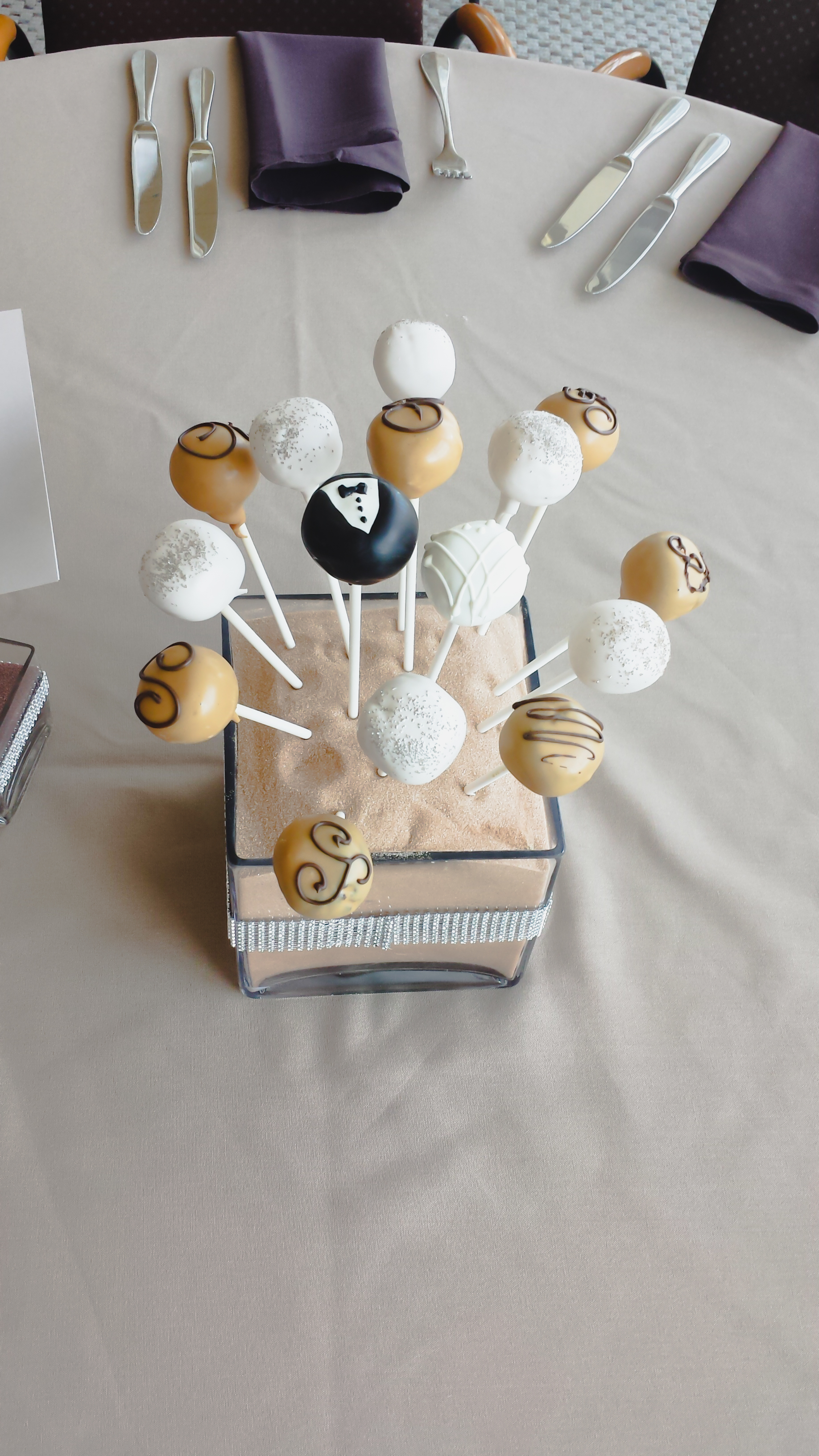 Cleveland Brown's Stadium Cake Pops