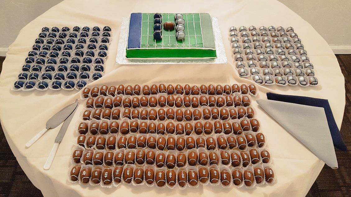 Footballs and Helmets Wedding